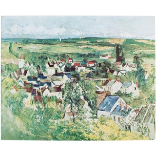 Vintage After View of Auvers Lithograph by Cezanne For Sale