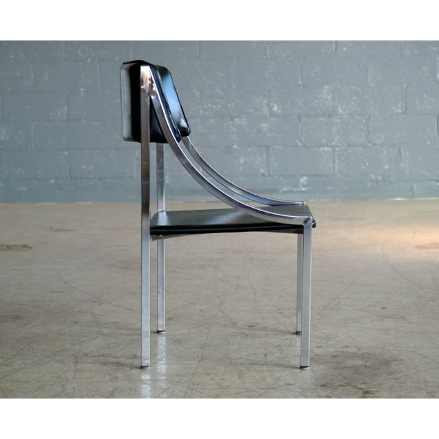 1950s Wolfgang Hoffmann Side Chair in Chrome and Vinyl for Howell Company For Sale - Image 5 of 10