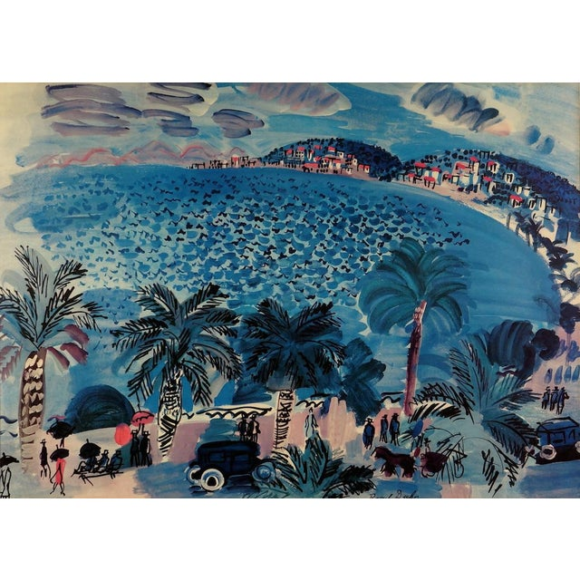"""Abstract """"La Promenade Des Anglais"""" Lithograph by Raoul Dufy For Sale - Image 3 of 4"""