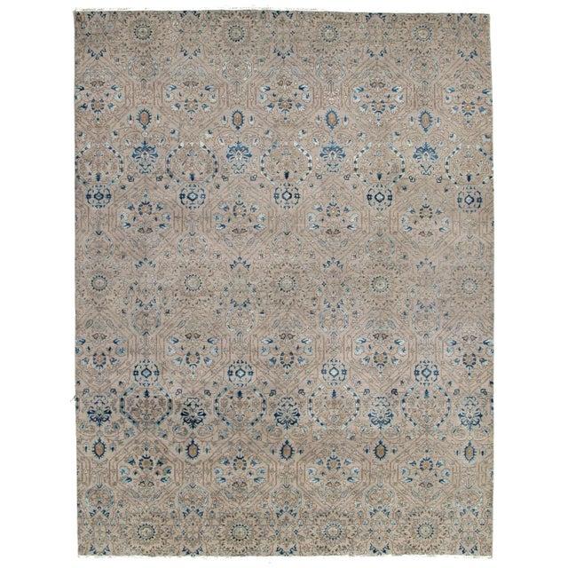 2010s Pasargad DC Modern Erased Design Silk &Wool Rug - 9′ × 12′ For Sale - Image 5 of 5