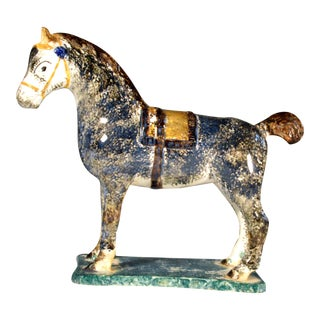 Newcastle Prattware Pottery Model of a Horse, Probably St. Anthony Pottery, Newcastle upon Tyne., Circa 1800-20.