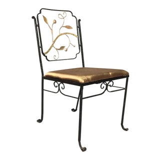 Four 1920s Bronze and Iron Garden Chairs Attributed to Florentine Craft Studio