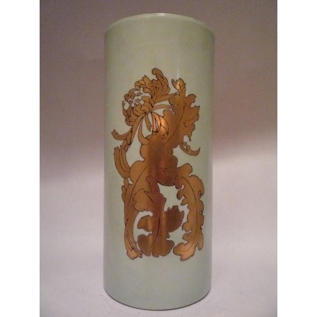 Vintage German Porcelain Gilt Vase - Image 2 of 7