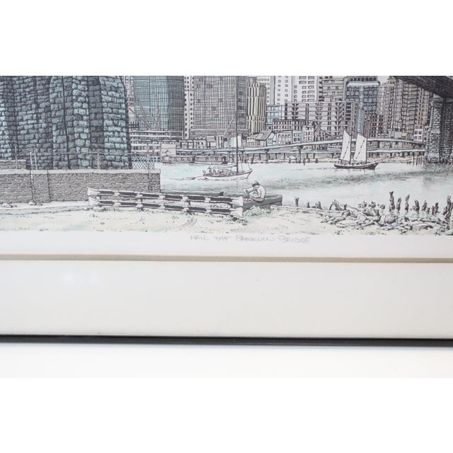 """Early 21st Century """"Hail Brooklyn Bridge"""" Print of the Twin Towers For Sale - Image 5 of 9"""