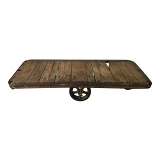 Vintage Cart Coffee Table For Sale