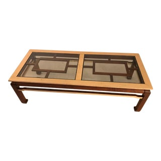 Chinoiserie Asian Ming Style Wood Coffee Table For Sale