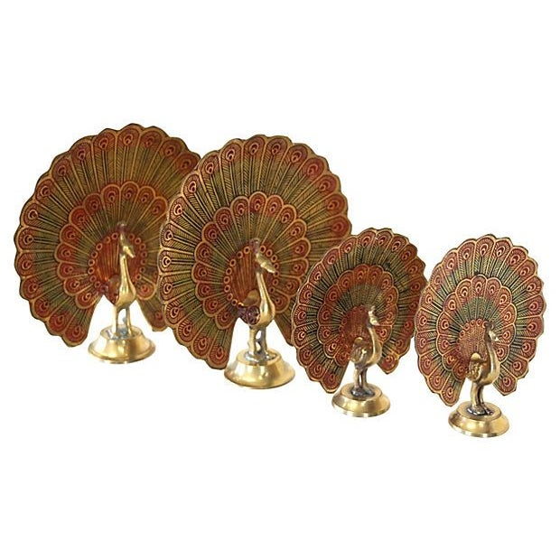Brass Peacocks - Set of 4 - Image 3 of 5
