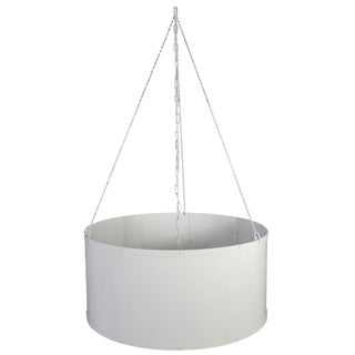 Four Round White Painted Ceiling Lights For Sale