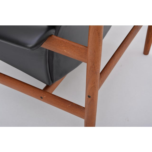 Black Reupholstered Bwana Model 152 Lounge Chair by Finn Juhl for France & Son For Sale - Image 6 of 12