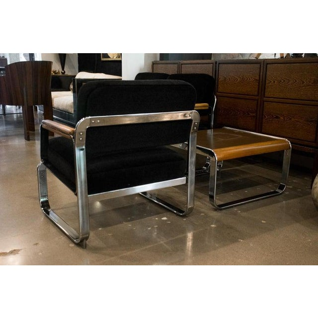 Midcentury Chrome and Mohair Loveseat, Chair and Table Set, 1960s For Sale In Austin - Image 6 of 11