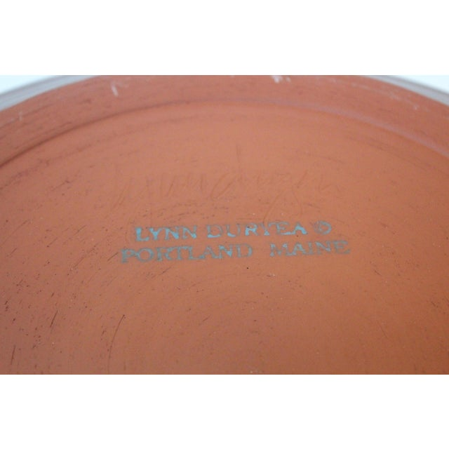 Vintage Turquoise Pottery Charger For Sale In New York - Image 6 of 8