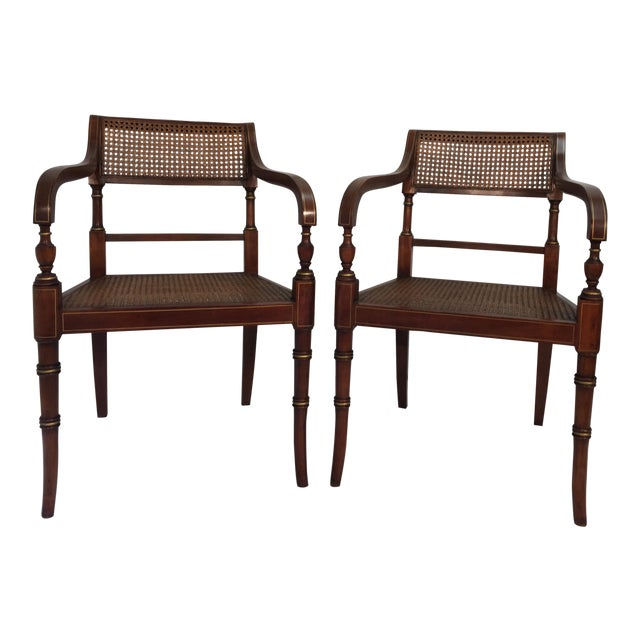 Kindel Regency Style Armchairs - A Pair - Image 1 of 7