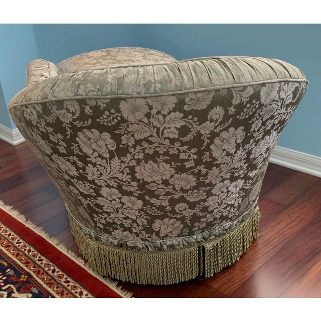 Silk Antique Silk Upholstery Chaise For Sale - Image 7 of 12