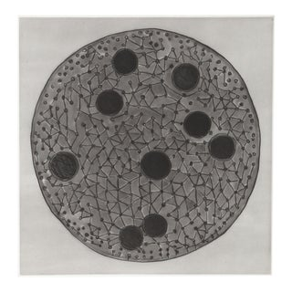 Terry Winters - Gray and Black Circles Etching With Aquatint For Sale