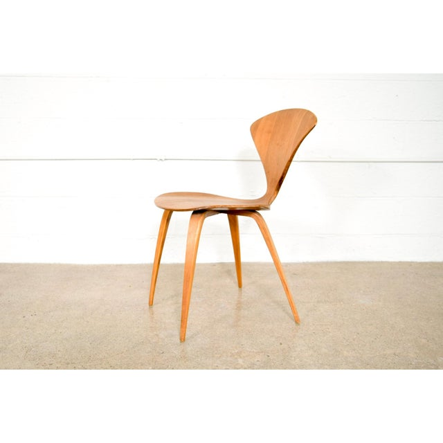 Plycraft Mid Century Norman Cherner Molded Plywood Side Chair For Sale - Image 4 of 11