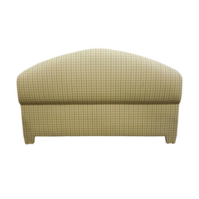 Upholstered Plaid King Headboard - Image 1 of 5