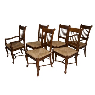 1990s Vintage Baker Furniture Milling Road Dining Chairs- Set of 6 For Sale