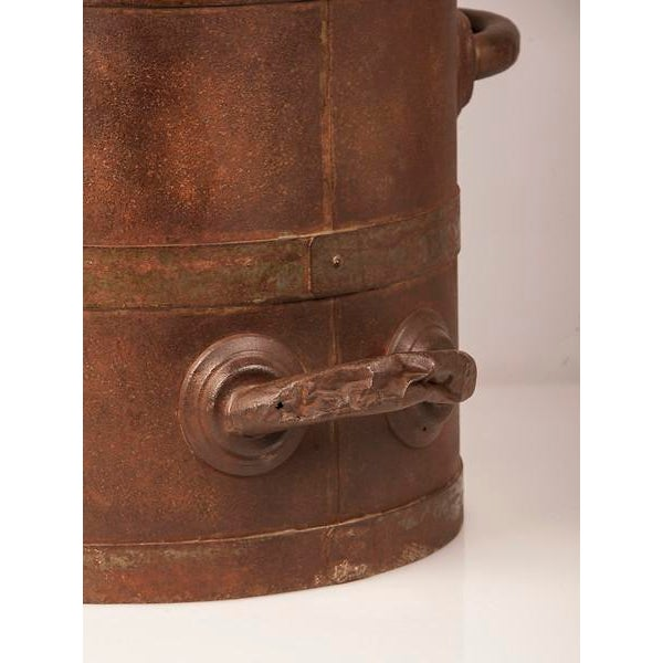 19th Century Enormous French Iron Wine Jug with Raised Handles For Sale - Image 9 of 11