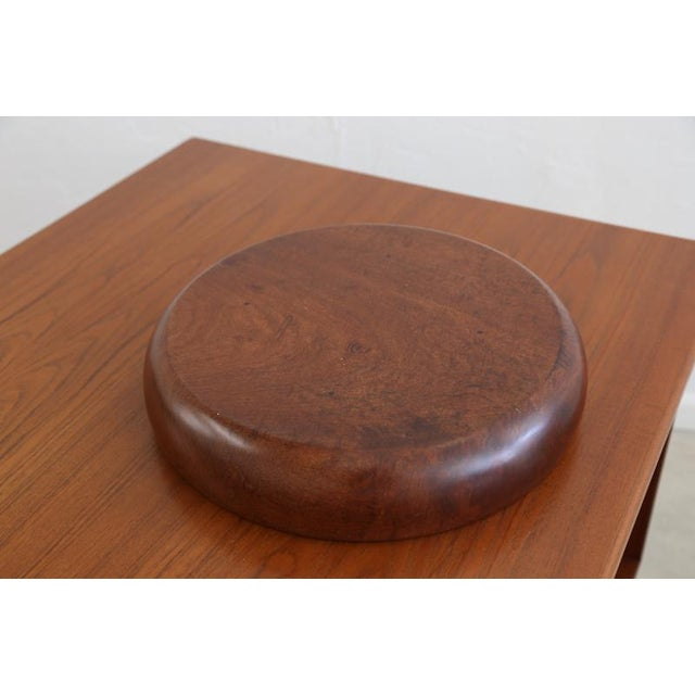 Mid-Century Modern Wooden Salad Bowl For Sale - Image 3 of 6