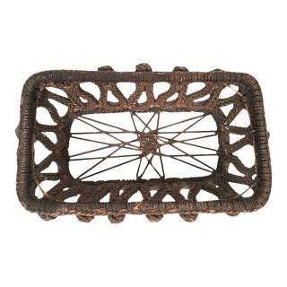 19th Century Antique Sailor Made Ropework Basket For Sale