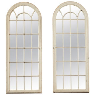 Antique Window Pane Mirrors - a Pair For Sale