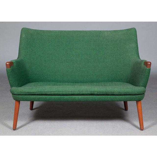 Hans Wegner AP 20 sofa, original fabric, manufactured by A.P. Stolen in Denmark, 1950s-1960s. In original condition with...