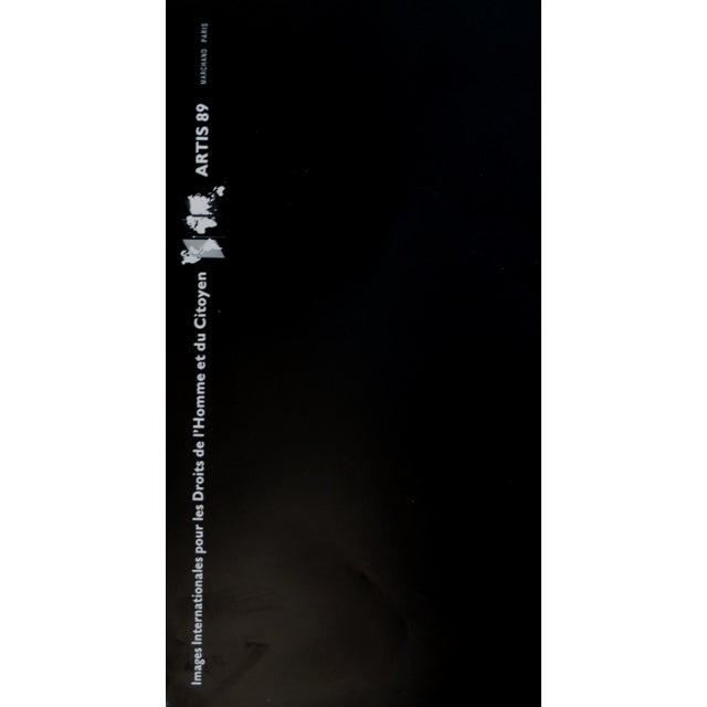 Contemporary 1989 Original Poster for Artis 89's Images Internationales Pour Les Droits De l'Homme Et Du Citoyen - Liberty For Sale - Image 3 of 4