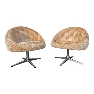 Vintage Mid Century Pod Chairs - a Pair For Sale