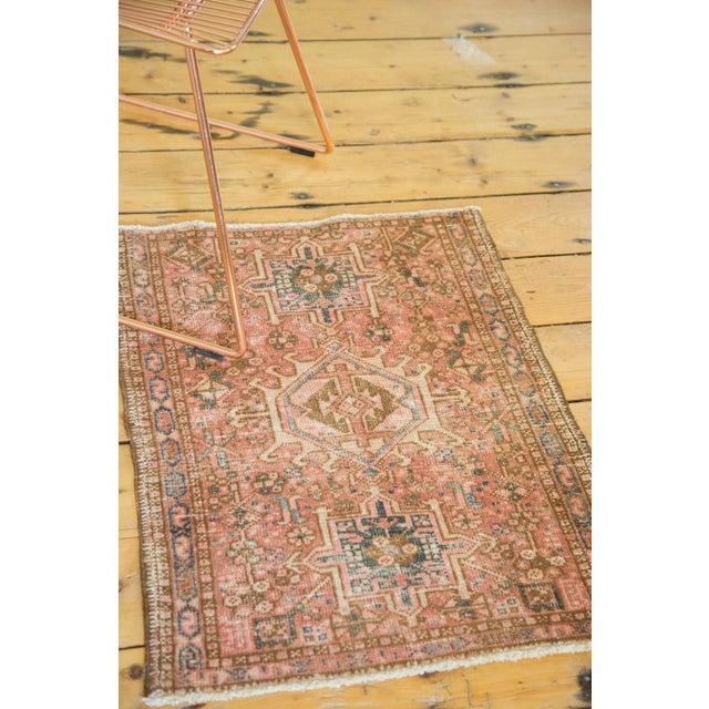 "Vintage Persian Karaja Square Mat - 2' x 2'5"" - Image 4 of 6"