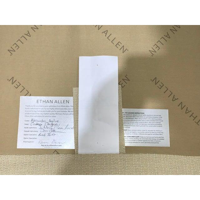 White Ethan Allen Tuxedo Sofa For Sale - Image 8 of 10