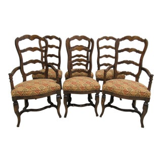 Vintage Century Furnture Country French Ladder Back Dining Chairs - Set of 6 For Sale
