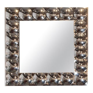 Mid-20th Century Hollywood Regency Turner Silver Bubble Wall Mirror