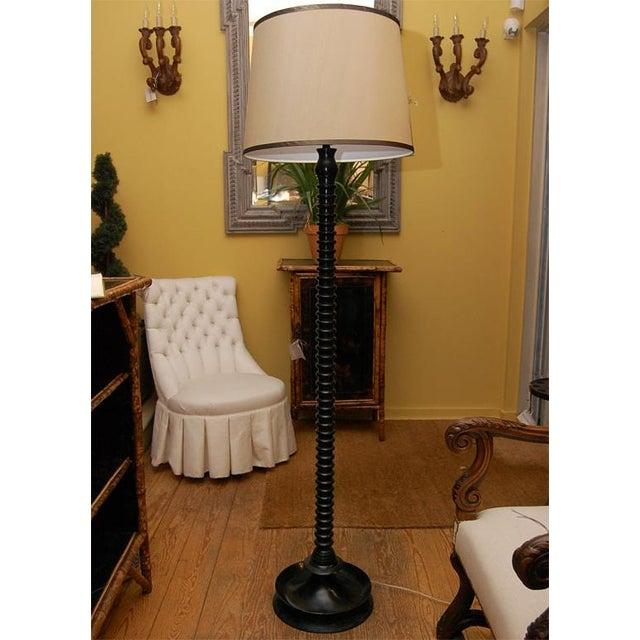 Ghee Black Twist Floor Lamp with Shade - Image 2 of 9