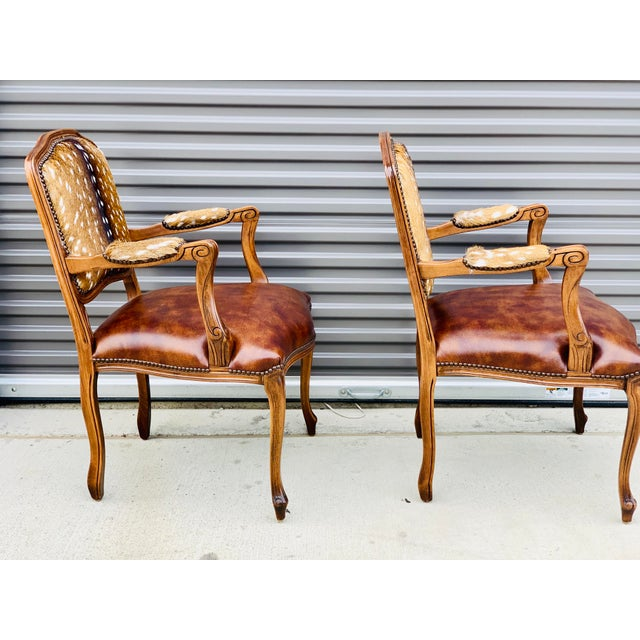 2010s Modern Axis Deer Arm Chairs- a Pair For Sale - Image 5 of 13