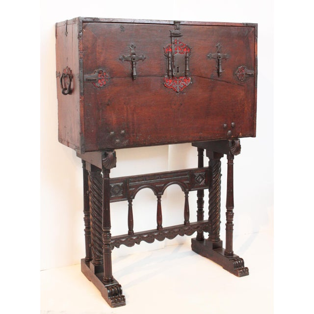 Renaissance Rare and Important 16th Century Spanish Vargueno For Sale - Image 3 of 8