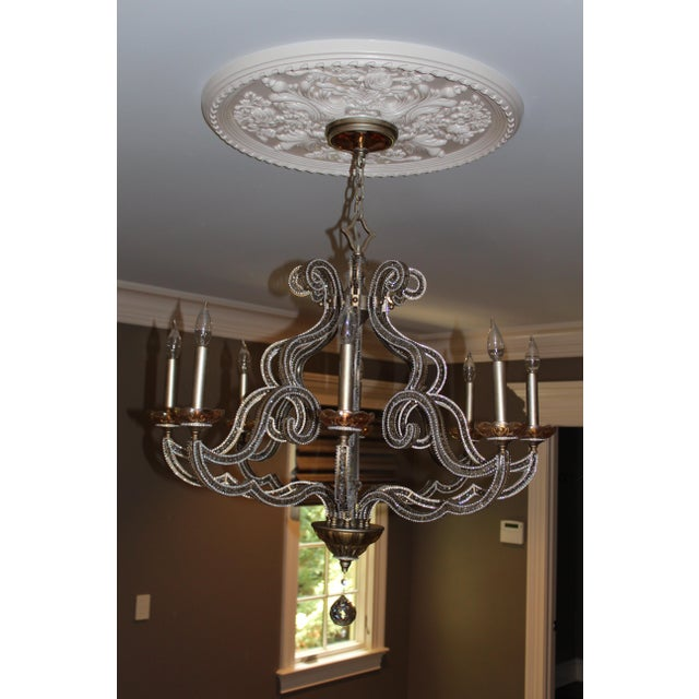 John richard paris 8 light chandelier chairish john richard paris 8 light chandelier image 2 of 9 mozeypictures Gallery