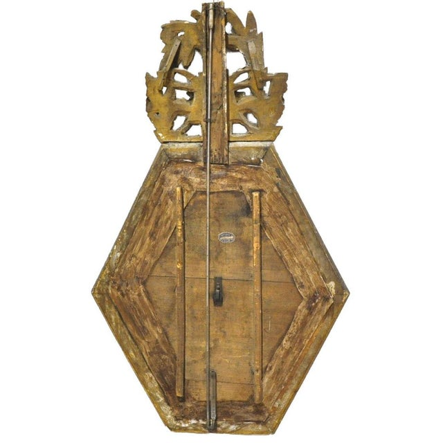 Gold Leaf 18th Century French Louis XVI Carved Gold Leaf Hexagonal Barometer For Sale - Image 7 of 7