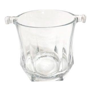 Mid Century Glass Ice Bucket