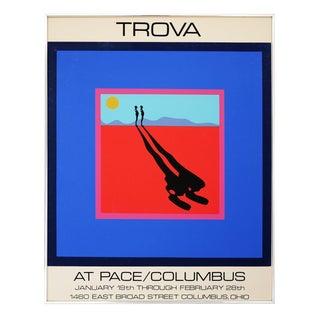 1972 Vintage Original Ernest Trova at Pace / Columbus Falling Man Poster For Sale