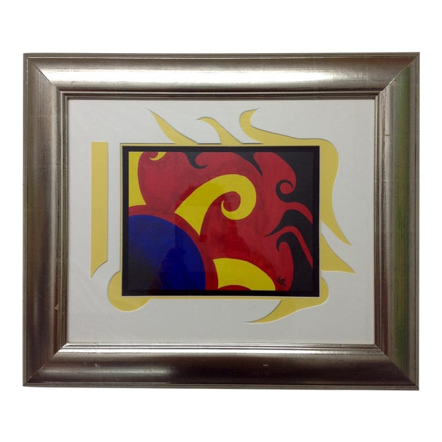 Brilliant Abstract Multi Media Construction For Sale