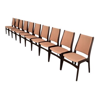 Danish Modern Dining Chairs - Set of 10 For Sale