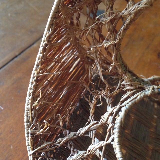 Vintage Italian Straw/Wicker Duck Basket - Image 5 of 11