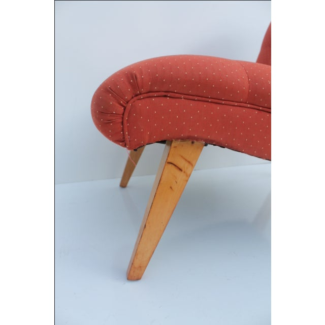 Knoll Jens Risom for Knoll Red Slipper Chair For Sale - Image 4 of 11