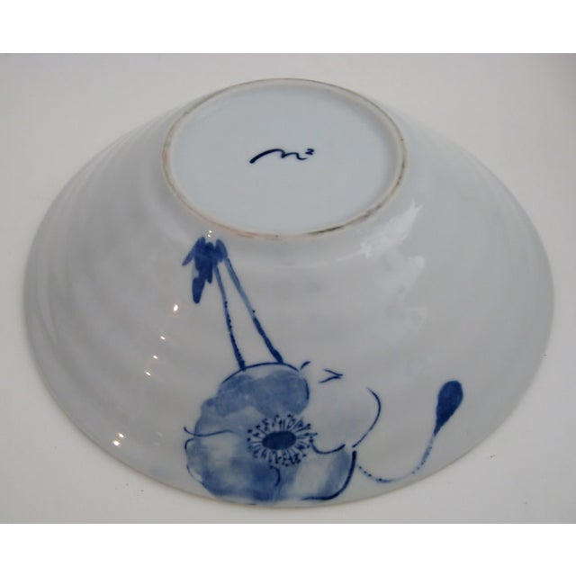 Blue Poppies Serving Bowl - Image 5 of 5