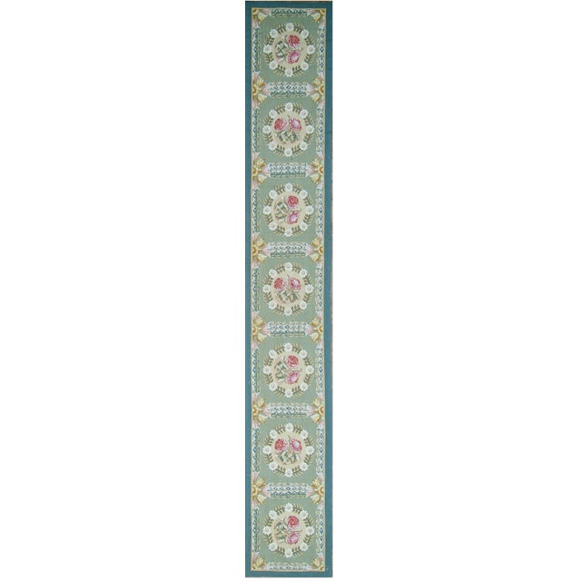 "Pasargad Aubusson Hand-Woven Wool Runner Rug - 2' 2"" X 14' 1"" - Image 3 of 3"