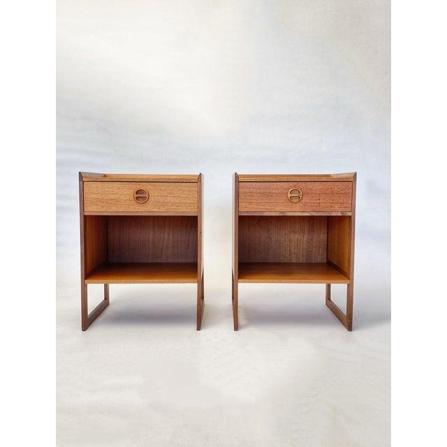 1960s Mid Century Scandinavian Arne Wahl Iversen Nightstands - a Pair For Sale - Image 12 of 12