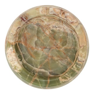 Large Vintage Mid-Century Onyx Ashtray / Catchall For Sale