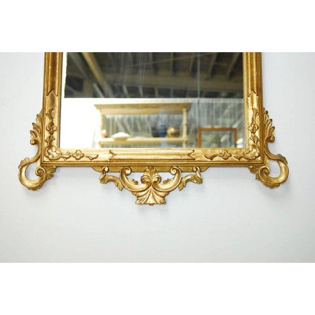 19th Century Italian Rococo Style Giltwood Mirror For Sale - Image 4 of 9