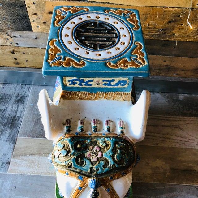Ceramic Palm Beach Hollywood Regency Elephant - Set of 3 For Sale - Image 4 of 11