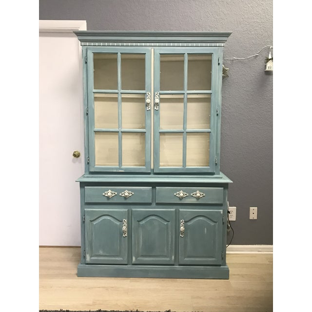 "Blue French Provincial ""Annabel"" China Cabinet - Image 11 of 11"